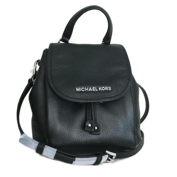 0b0d3106c9a9 Michael Kors Bags | Riley Small Flap Pack Black Leather | Poshmark